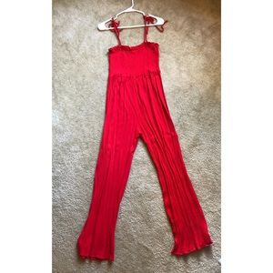 Forever 21 red jumpsuit